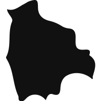 Bolivia black country map shape