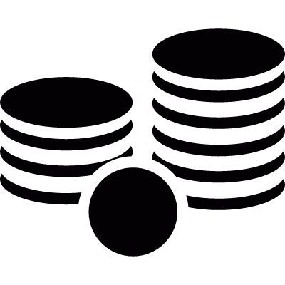 Stack of coins logo