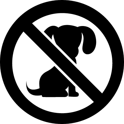 Dogs probibited signal logo