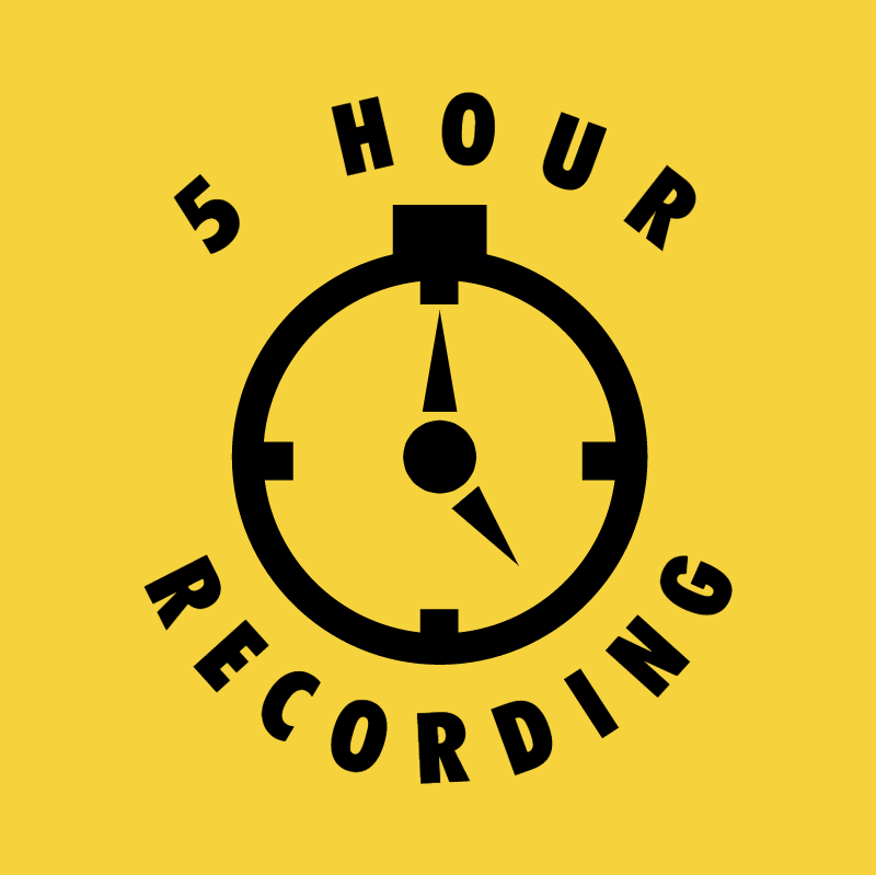 5 Hour Recording vector