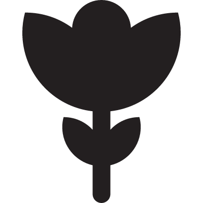 Flower with Leeves vector logo