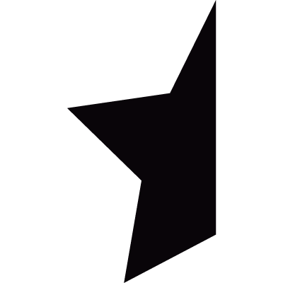 Half star vector logo
