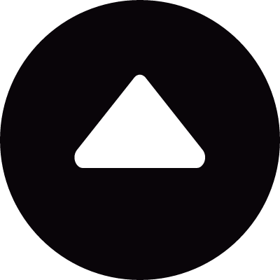 Little circular button with up arrow triangle vector logo