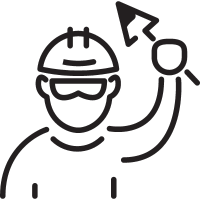 Worker with Palette vector