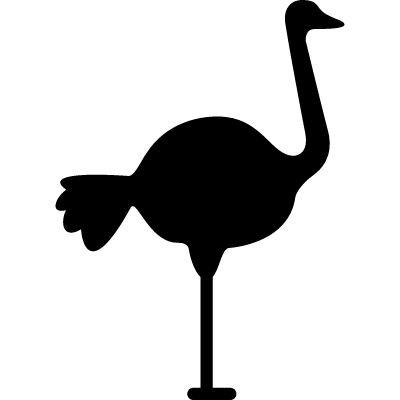 Ostrich Facing Right logo