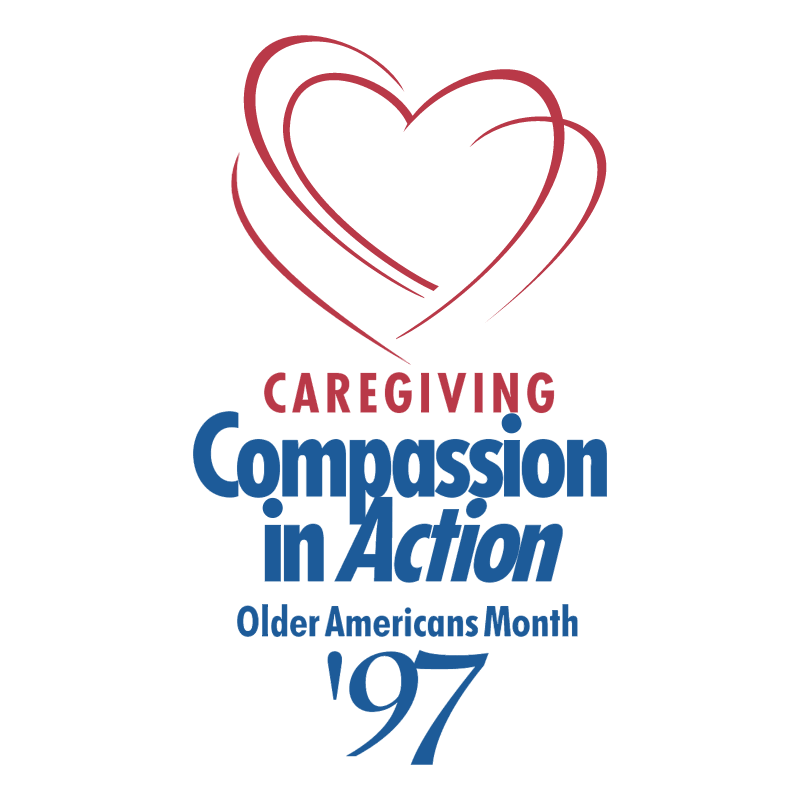 Caregiving Compassion in Action vector logo