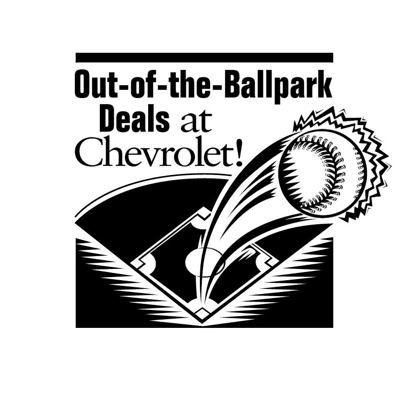 Chevrolet Out of the Ballpark Deals vector