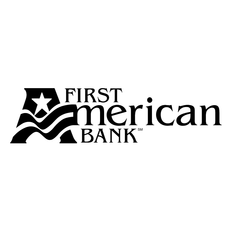 First American Bank vector