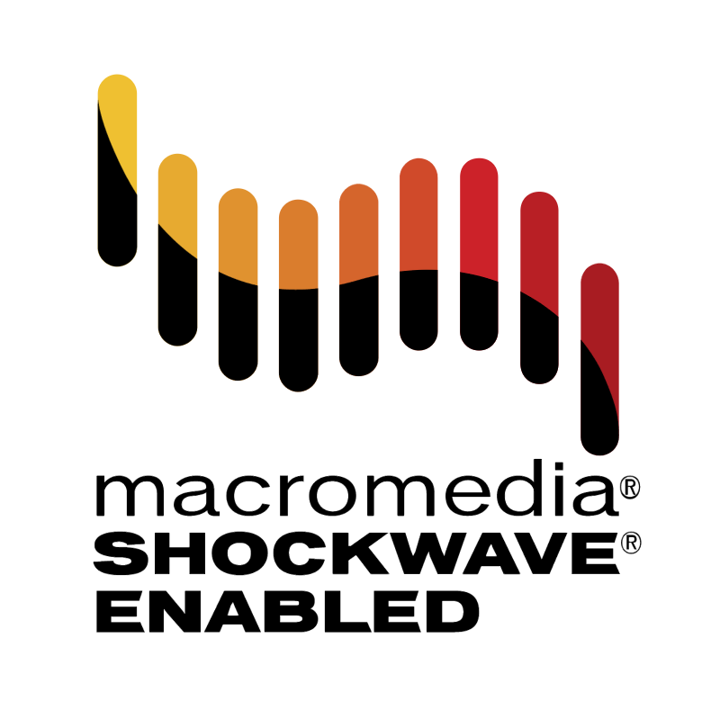 Macromedia Shockwave Enabled vector logo
