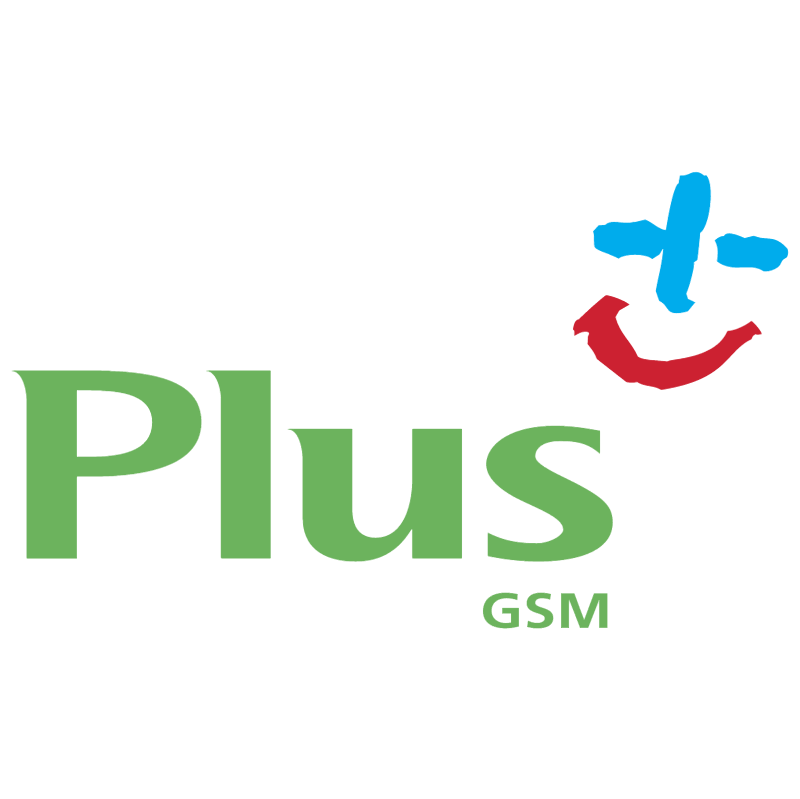 Plus GSM vector logo