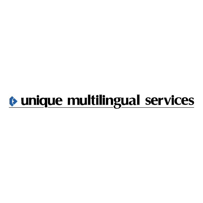 Unique Multilingual Services vector