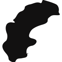 Sweden country map silhouette vector