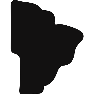 Brazil country black map shape logo