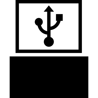Connection symbol for music machine vector logo