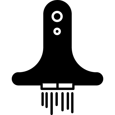 Space ship variant in launching position logo