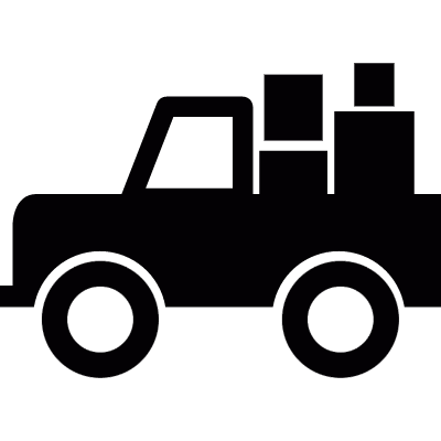 All-terrain vehicle with cargo logo