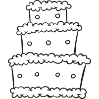 Three Levels Cake vector
