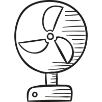 Desk Ventilator vector