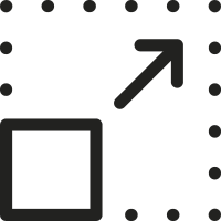 Resize Square and Arrow