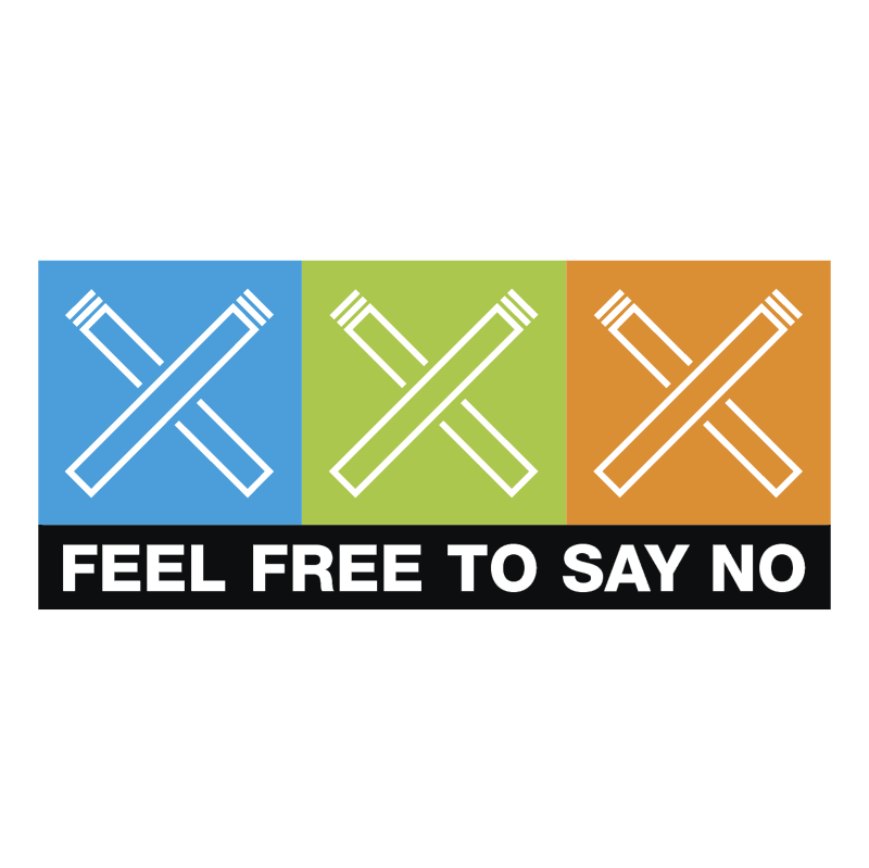 Feel Free To Say No vector logo