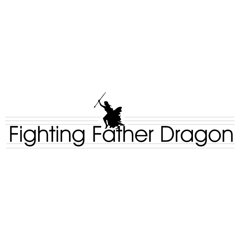 Fighting Father Dragon vector logo