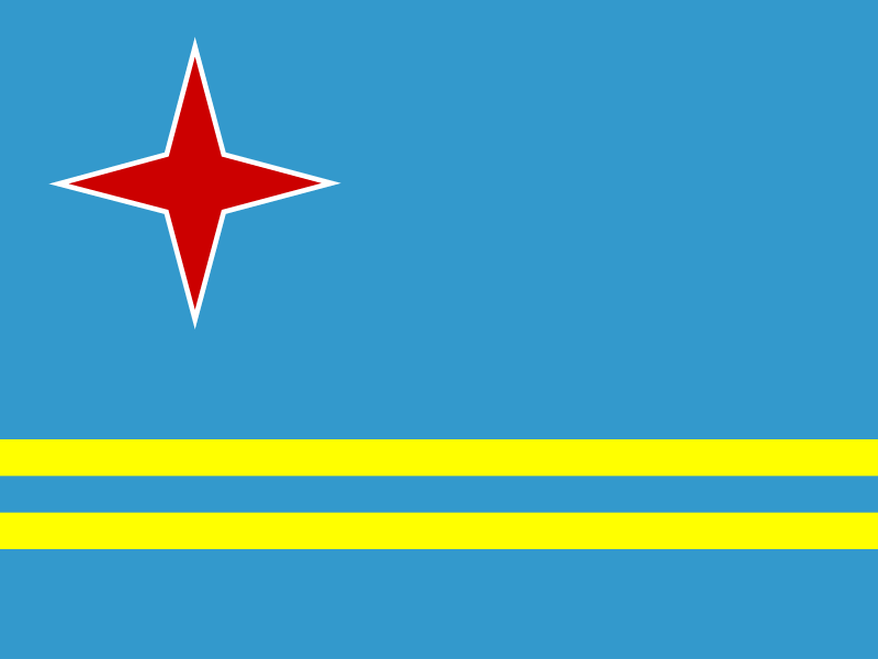 Flag of Aruba vector logo