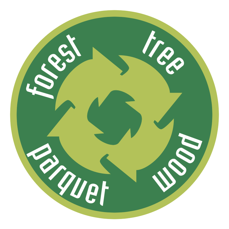 Forest tree parquet wood logo