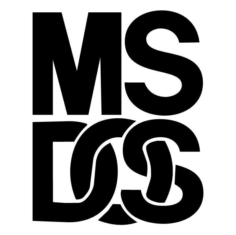 MS DOS vector