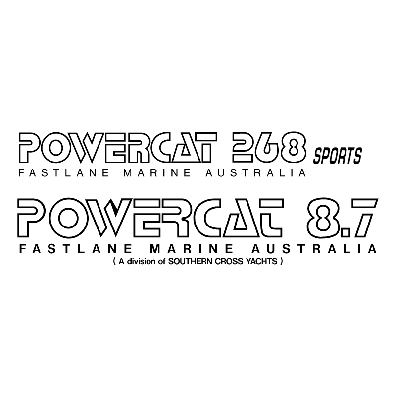 Powercat Boats vector logo