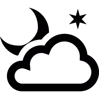 Cloudy night logo