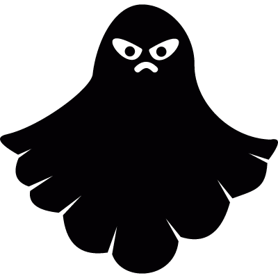 Angry ghost vector logo