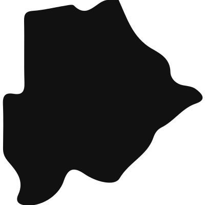 Botswana country map silhouette vector logo
