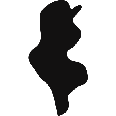Tunisia country map silhouette logo