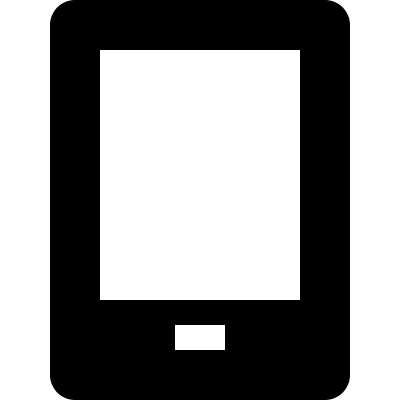Black cellphone logo