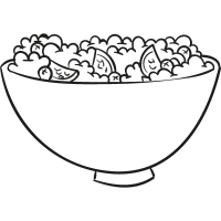 Appetizers Bowl vector