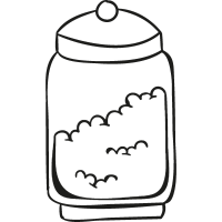 Jar Full of Food vector