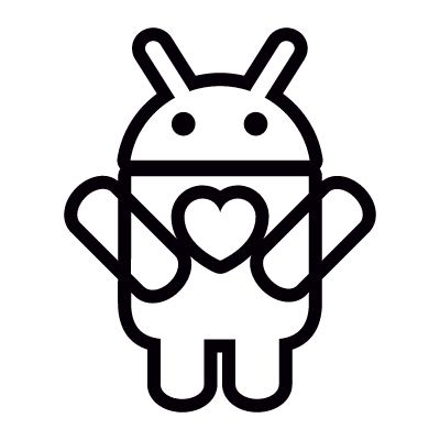 Android with Heart logo