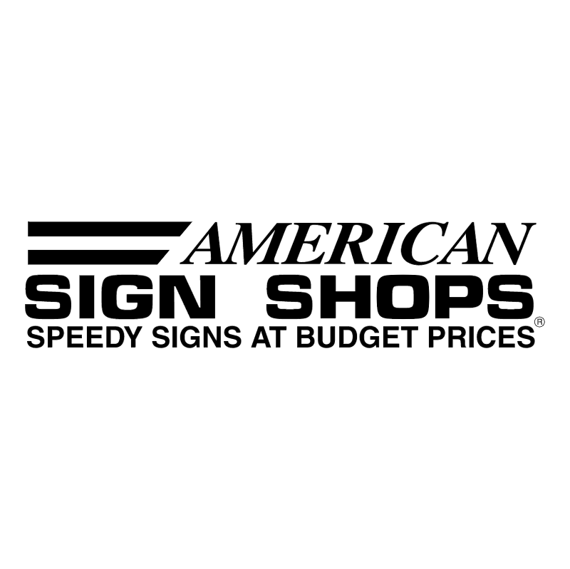 American Sign Shops vector