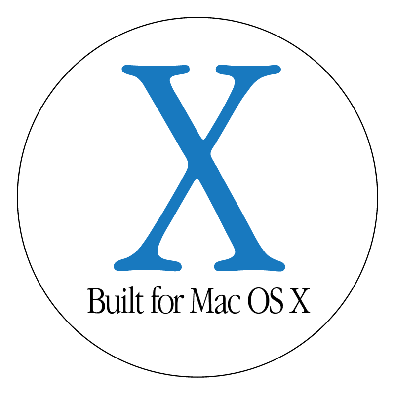 Built for Mac OS X vector logo