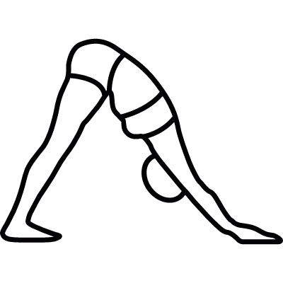 Yoga asana of a woman logo