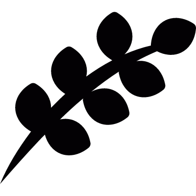 Twig with leaves logo
