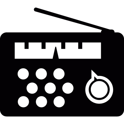 Radio with analogue tuner logo