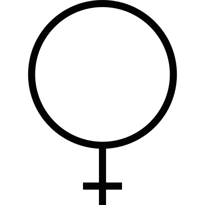 Female gender sign logo