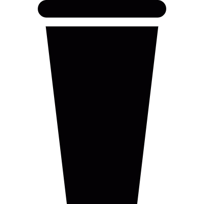 Plastic drinking cup logo