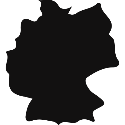 Germany country map black shape logo
