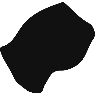 Lesotho black country map shape logo
