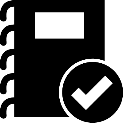 Verified notes symbol logo