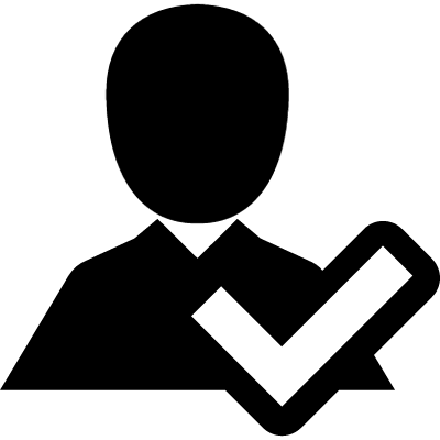 Verification symbol of a man vector logo
