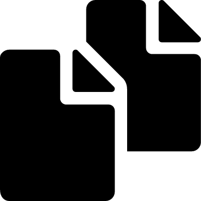 Copy symbol of two filled paper sheets logo