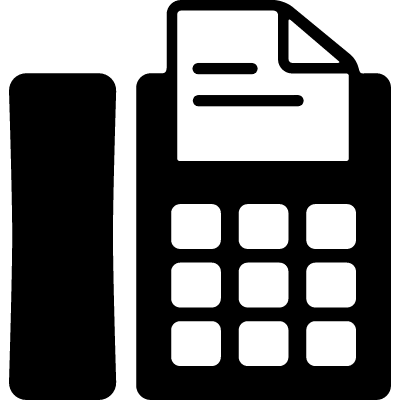 Telephone with Fax vector logo